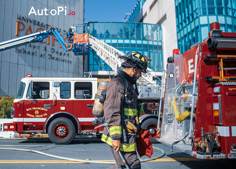 Shaping Smart City #3:  AutoPi connected Fire, Rescue and Emergency vehicles - take actions to save time and efforts for rescue workers.
