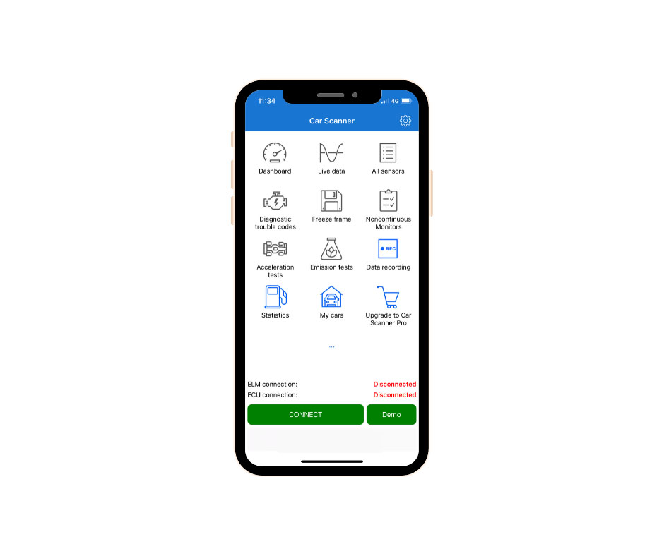 An illustration of how to connect your mobile app with Autopi